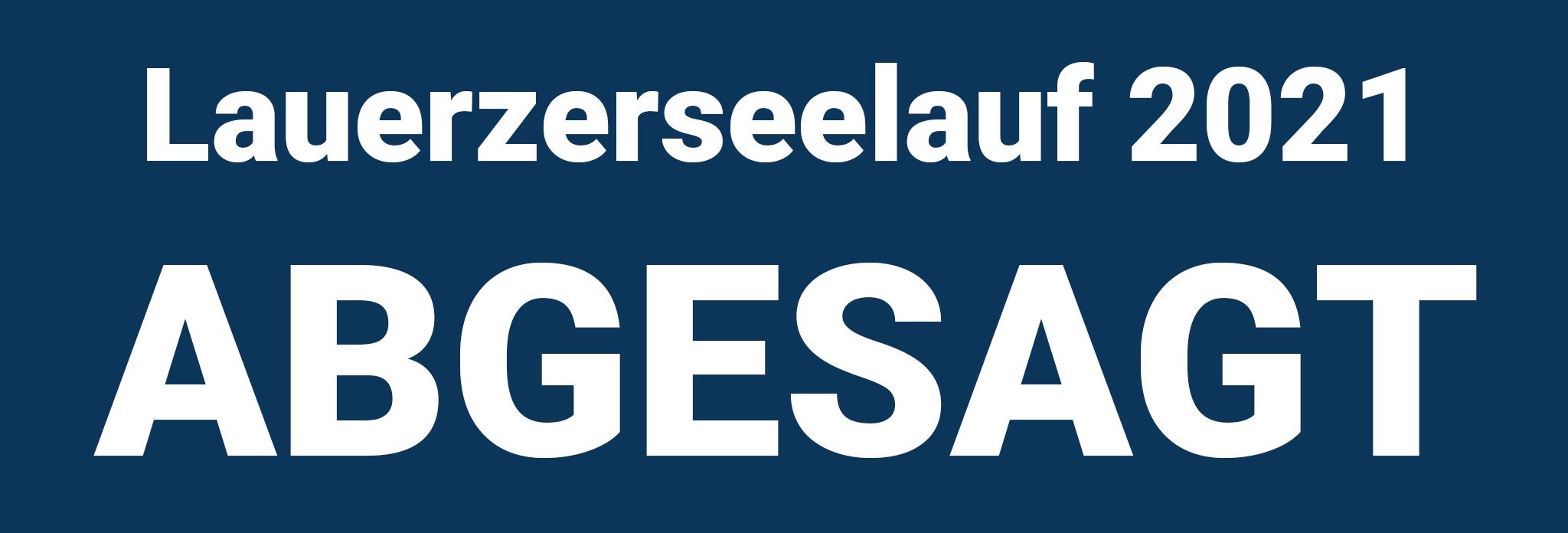 Lauerzerseelauf2020 abgesagt